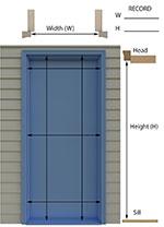 Sliding screen door replacement hidden screen door for Inside mount retractable screen door